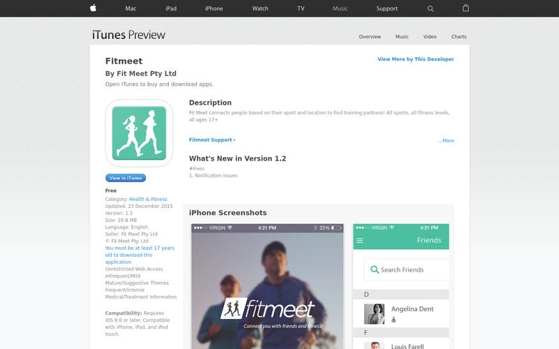 Fit Meet download iTunes | AngelList