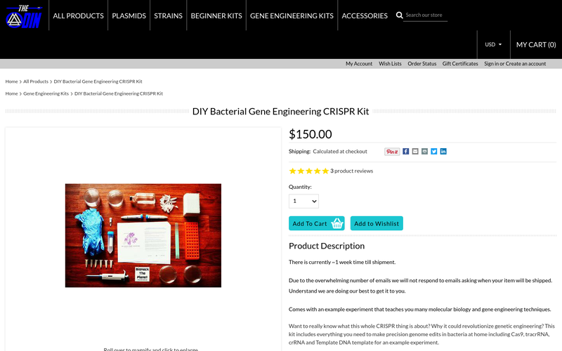 Diy Bacterial Gene Engineering Crispr Kit Angellist