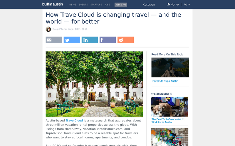 How TravelCloud is changing travel - and the world - for better