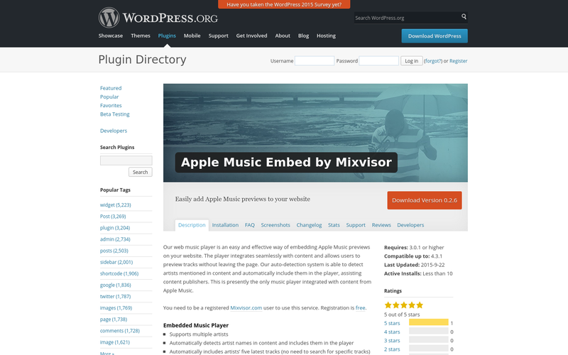 Apple Music + Spotify Embed by Mixvisor   AngelList