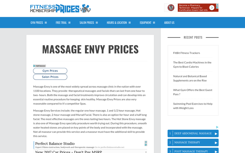 MASSAGE ENVY PRICES | Message Envy Membership Prices - AngelList
