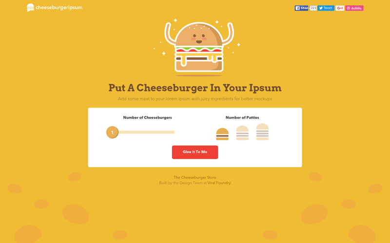 Cheeseburger Ipsum - Give It To Me