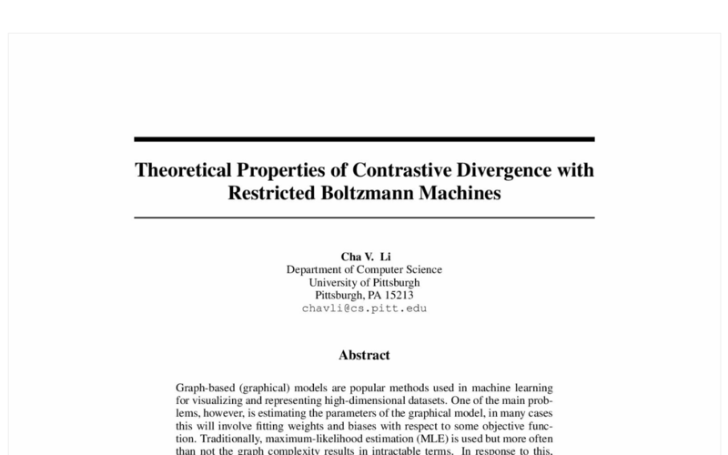 Theoretical Properties of Contrastive Divergence with Restricted Boltzmann Machines