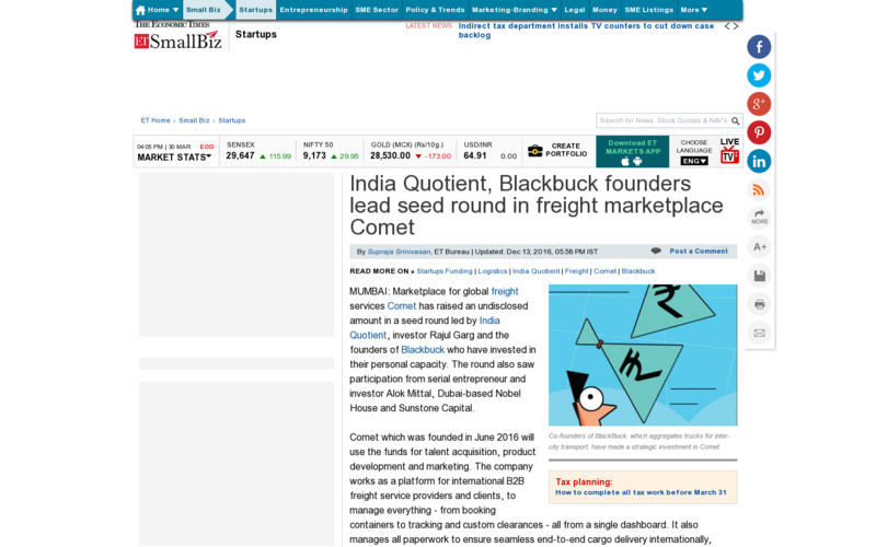 India Quotient, Blackbuck founders lead seed round in