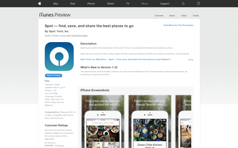 Spot iOS App