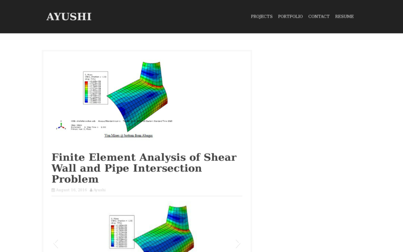 Finite Element Analysis of a Shear Wall and a Pipe