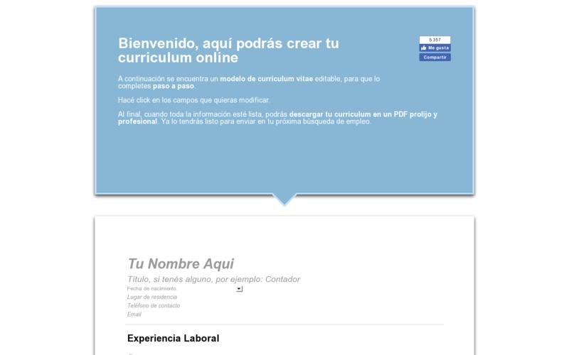 Hacer Curriculum Plantilla Gratis Para Completar Online Angellist