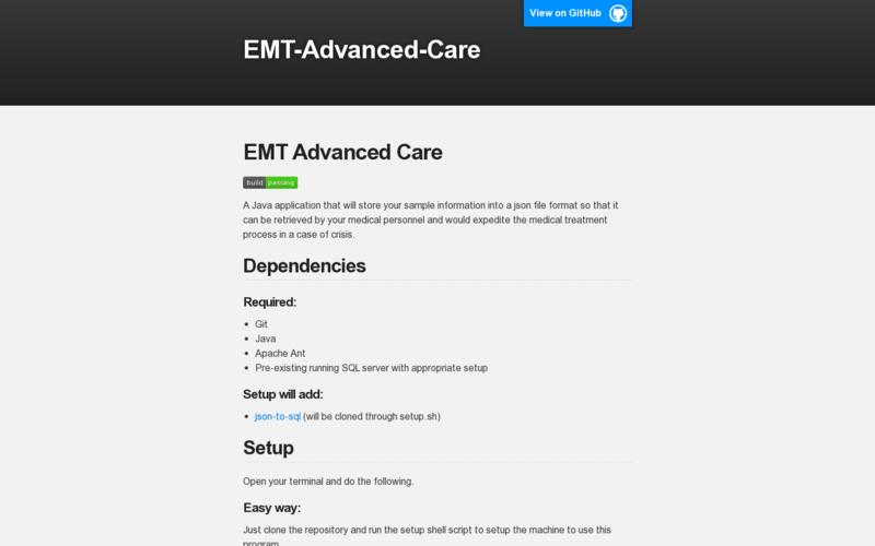 EMT advanced care