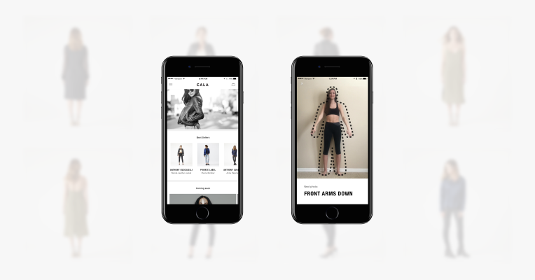 CALA's app fits designer clothing to your body using iPhone photos