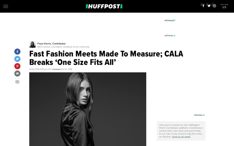 Fast Fashion Meets Made To Measure; CALA Breaks 'One Size Fits All'