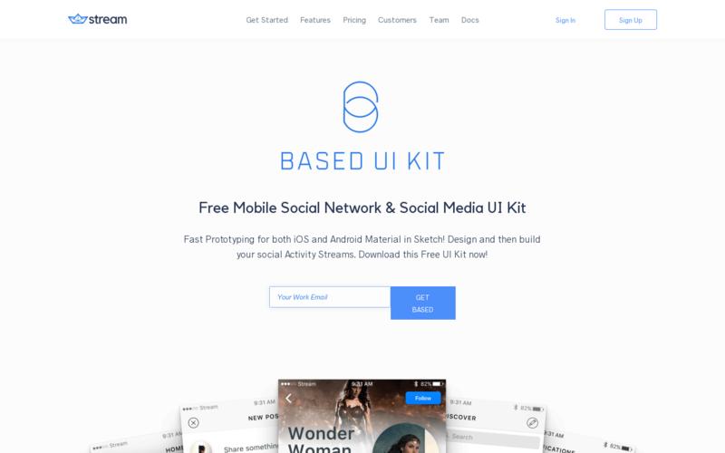 Based Mobile: Social UI kit for Sketch