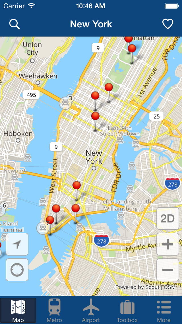 Airport New York Map.New York Offline Map City Metro Airport With Travel Trip Planner