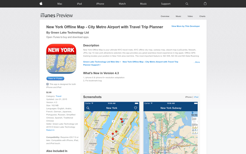 Subway Map Nyc Trip Planner.New York Offline Map City Metro Airport With Travel Trip Planner
