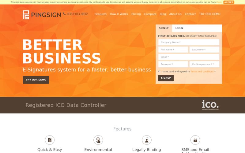 PingSign.com -Secure esignature solutions