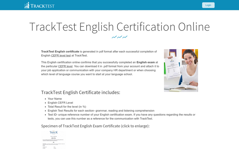 TrackTest English Certificate for individuals   AngelList