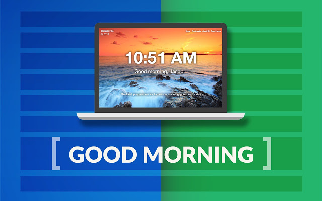 Good Morning - New Tab by cloudHQ