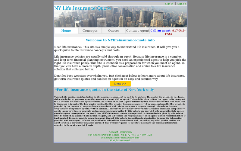 Life Insurance Prospecting Website