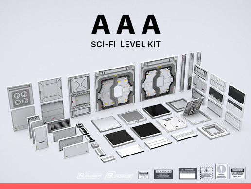 Sci-Fi Level Kit AAA - Asset Store