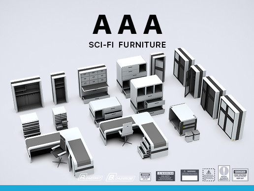 Sci-Fi Furniture Pack AAA - Asset Store