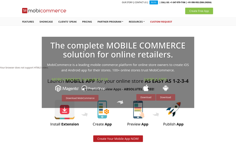 Magento and PrestaShop eCommerce Mobile Store App Builder