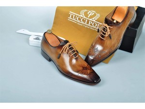 af75b6c90b0 2018 TucciPolo Special Edition Mens Prestigiously Handcrafted Brown Luxury  Oxford Italian Leather Shoes