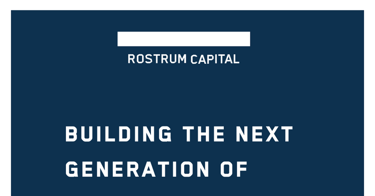 """""""How to build the next generation of platform company"""""""