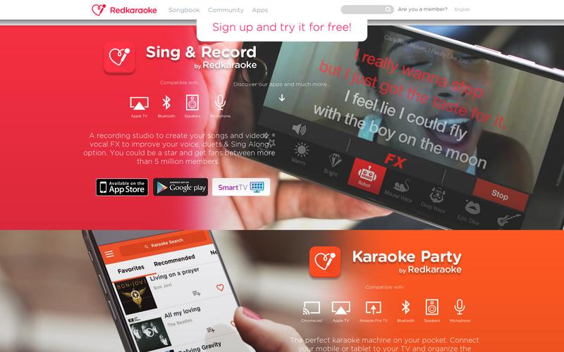 Online Karaoke with RedKaraoke - Website | AngelList