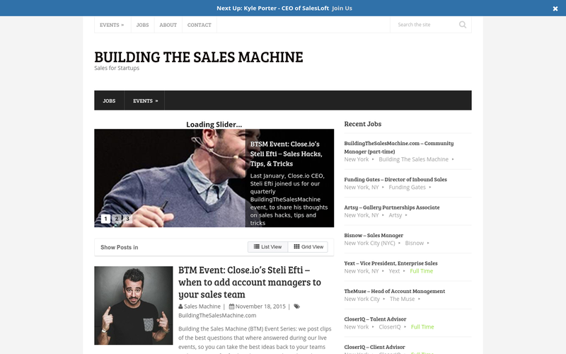 Building The Sales Machine