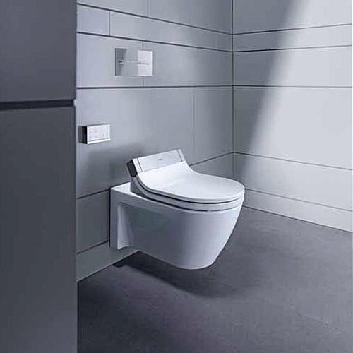 duravit 2533590092 starck 2 wall mounted toilet for use with sensowash c angellist. Black Bedroom Furniture Sets. Home Design Ideas