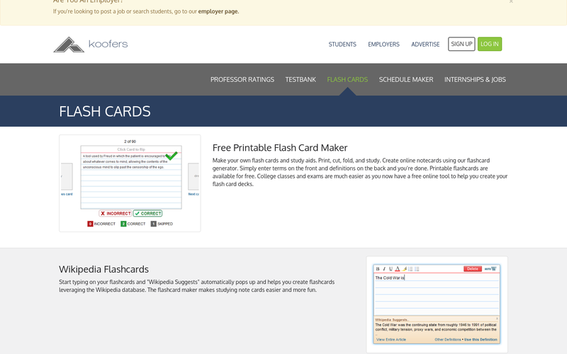 Koofers Flashcards Angellist