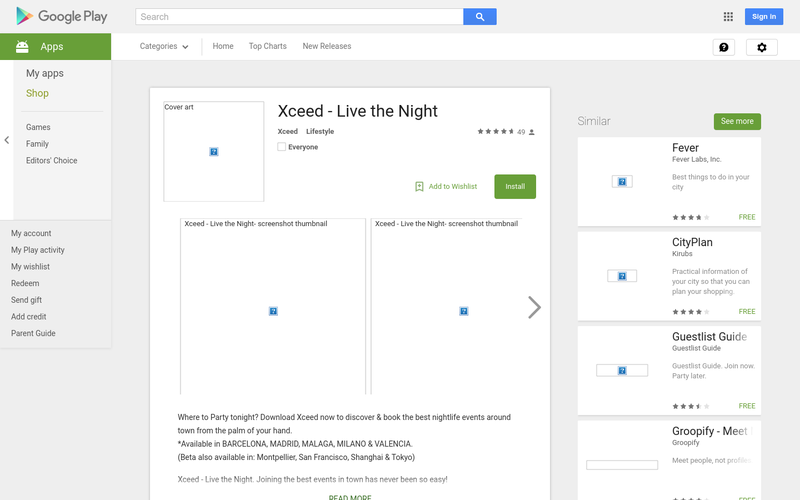 Xceed - Live the Night - Android Apps on Google Play