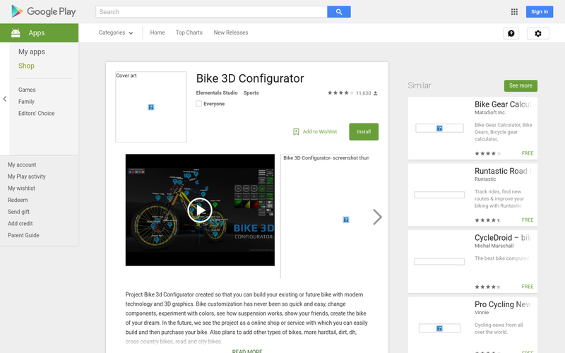 Bike 3D Configurator - Android Apps on Google Play | AngelList