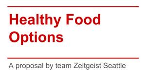healthy food proposal