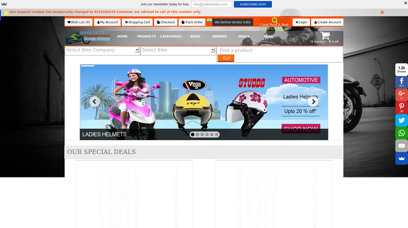 First Online Store In India Selling Bike Parts And Accessories