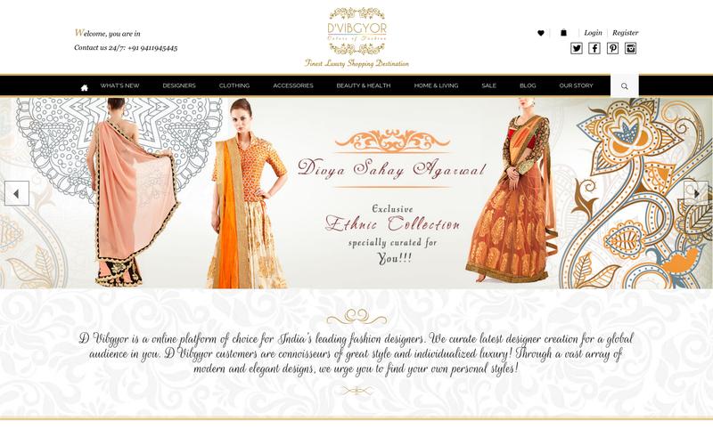 Luxury Designer Clothing Online | D Vibgyor Finest Online Luxury Shopping Destination For Women