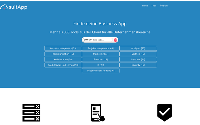 suitApp - Finde passende Business Tools