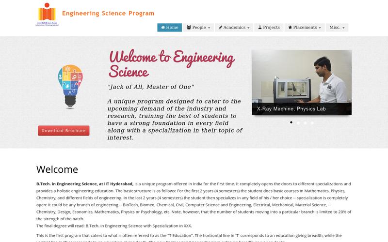 Engineering Science Website