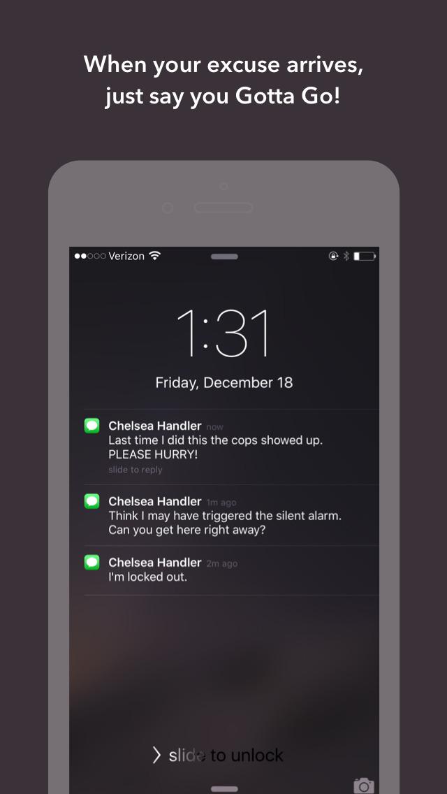 iOS Excuse App