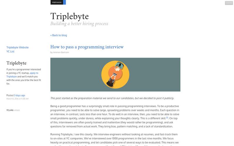 How to pass a programming interview | AngelList