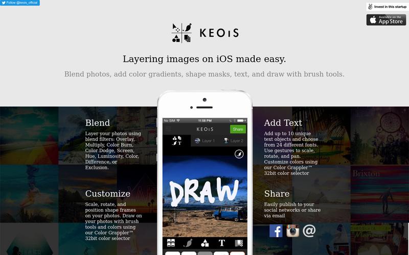 KEOIS - Social photo editing toolbar for iOS.