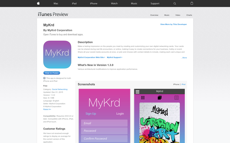 Mykrd angellist mykrd is the most versatile digital business card app for entrepreneurs eager to grow their business easily create stunning looking digital business cards reheart Choice Image