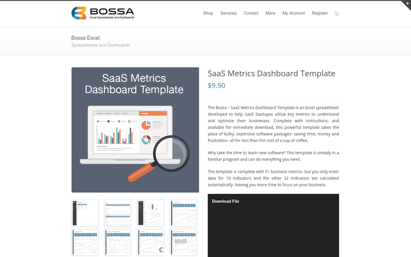Saas metrics dashboard template angellist friedricerecipe Gallery