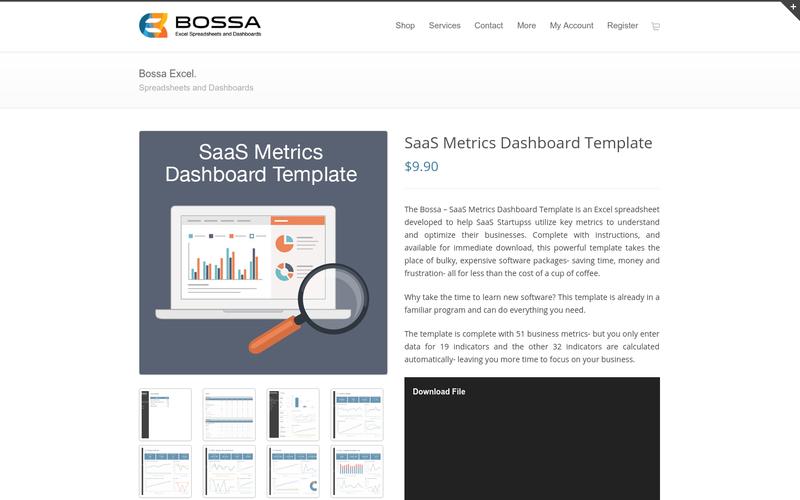 Saas metrics dashboard template angellist wajeb Choice Image