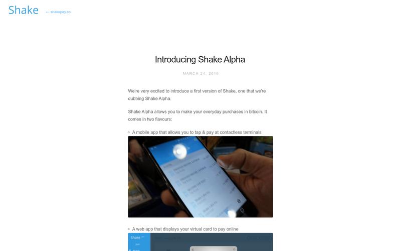 Shake - Introducing Shake Alpha