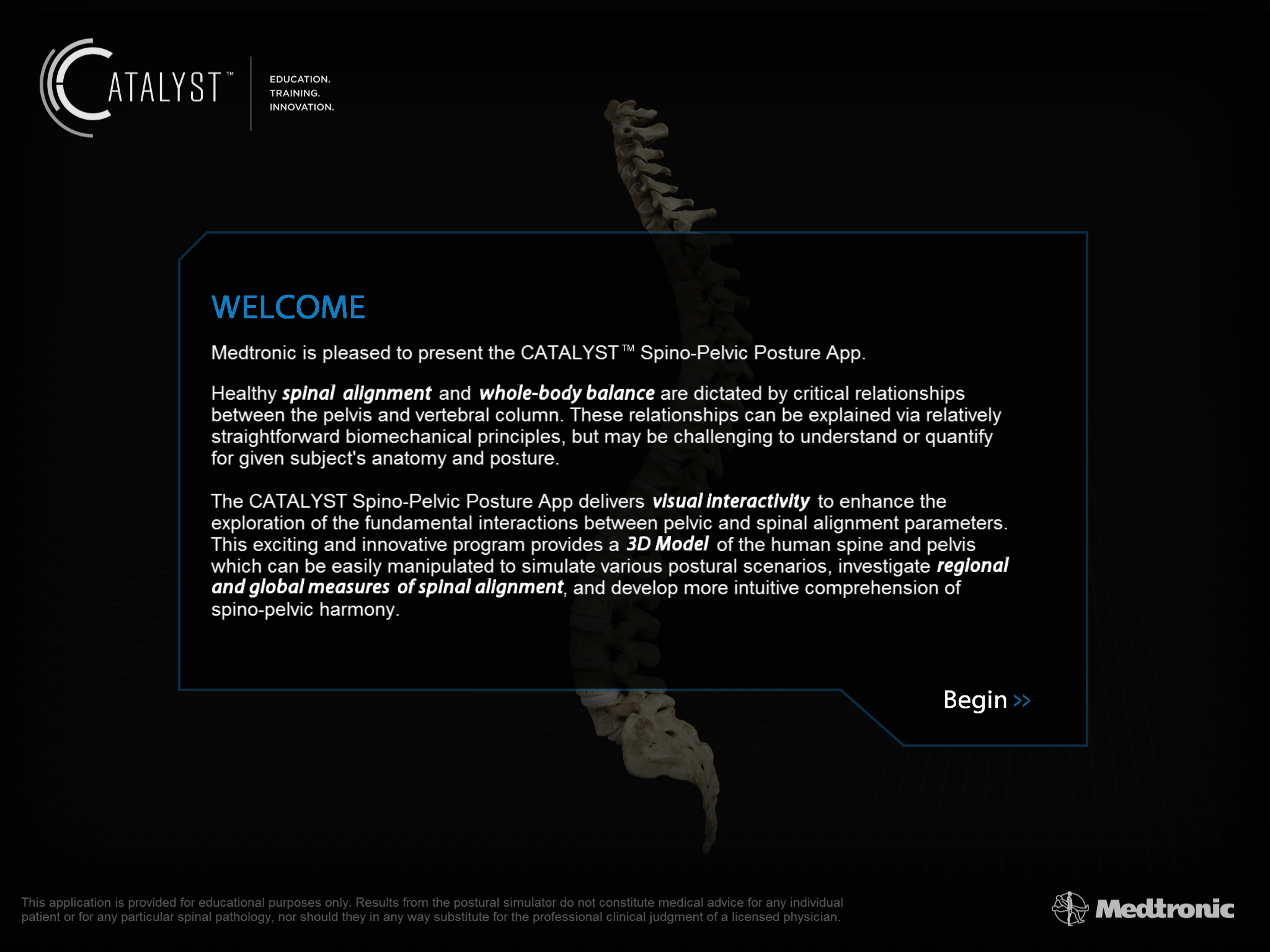 Spino-Pelvic Simulator App for Medtronic | AngelList