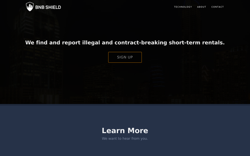 BNBShield | We find and report illegal short term rentals.
