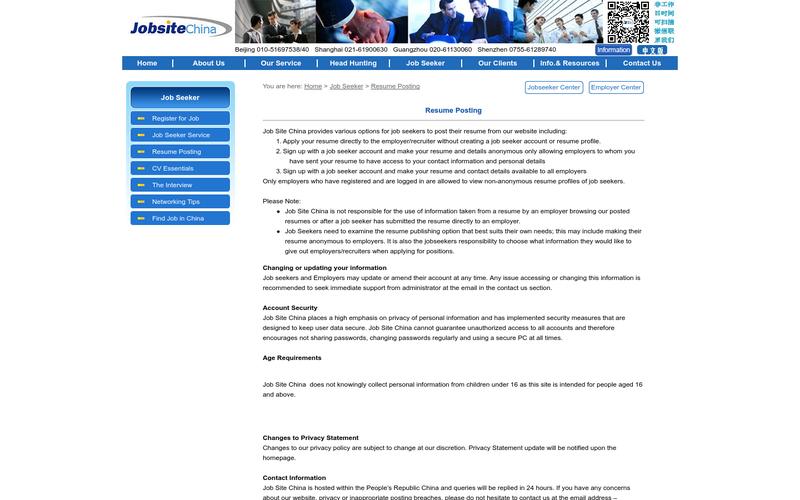 resume posting website