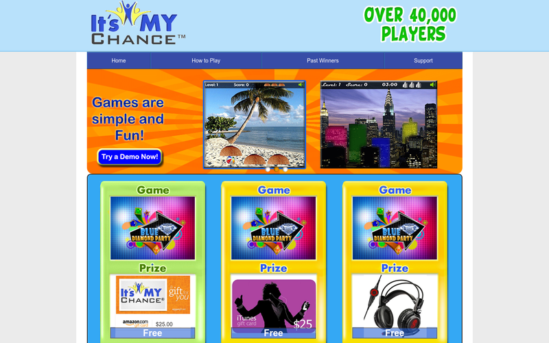 Play games for free and win prizes