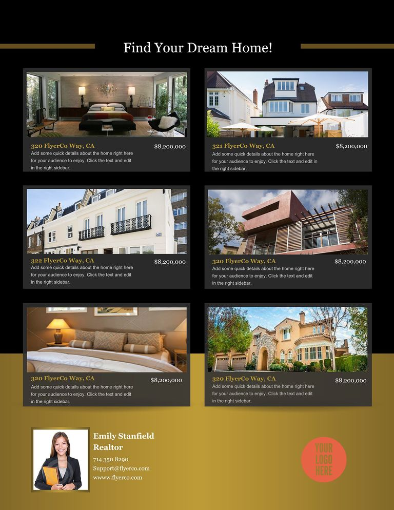 create beautiful real estate flyers to download print and