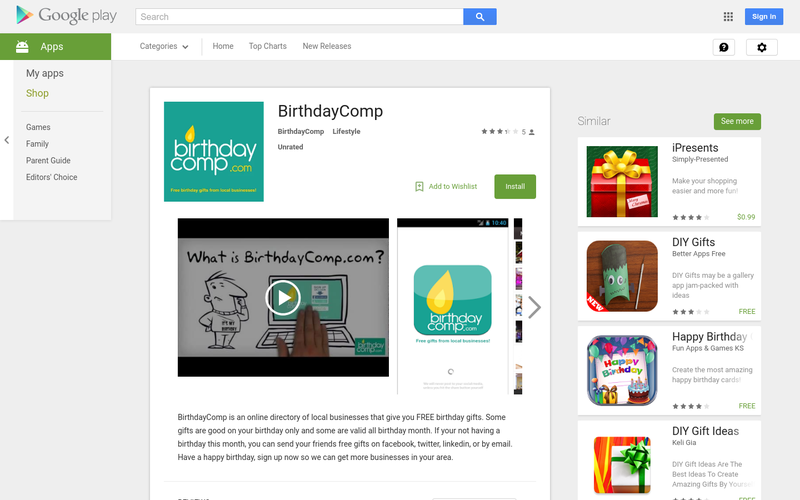 BirthdayComp Is An Online Directory Of Local Businesses That Give You FREE Birthday Gifts Some Are Good On Your Only And Valid All
